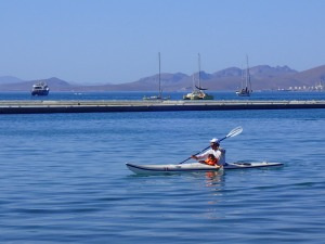 Kayaking in the bay
