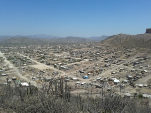 A view of the colonias from the surrounding hills.