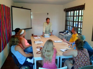 Taking culture and language classes at El Nopal.